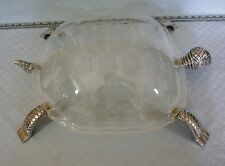 Arthur Court Covered Turtle Tray - Clear Acrylic / Lucite w/ aluminum legs heads