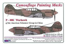 AML Models 1/72 CURTISS P-40K WARHAWK AVG IN CHINA Camouflage Paint Mask Set