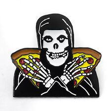The Misfits Lapel Pin Crimson Ghost Pizza Punk Rock New Soft Enamel