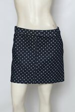 J CREW Blue & White Polka Dot Denim Mini Jean Skirt Sz 8 NWT