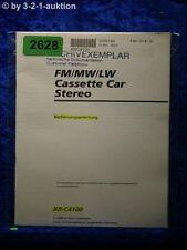Sony Bedienungsanleitung XR C4100 Car Stereo (#2628)