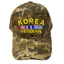DIGITAL CAMO CAMOUFLAGE KOREA VETERAN RIBBON LOGO Military Cap Hat