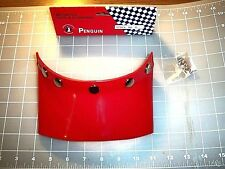 HELMET VISOR RED FIVE SNAP NOS 1970s VINTAGE COMPETITION ACCESSORY FREE SHIPPING