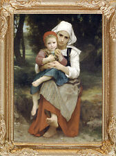 BABY SITTER Dollhouse Picture - FRAMED Fine Art Miniature - MADE IN AMERICA