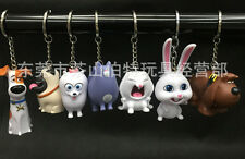 Lot 1set 7pcs animal dog Characters Plastic Charms Pendants Key Chain Keychains