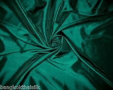 DARK GREEN FAUX SILK TAFFETA FABRIC for BRIDESMAID DRESS DRAPE BLOUSE SKIRT