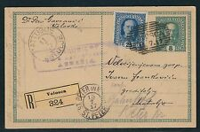 1917 Austria Registered Postal Card – Volosca to Matulje to St. Peter (Croatia)