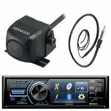 "Kenwood Rearview Camera, JVC 3"" Screen DVD USB CD Bluetooth Radio and Antenna"