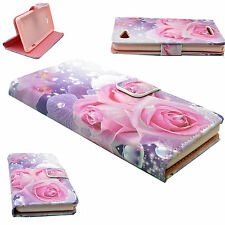 Flip Leather Card Wallet Holster Phone Folding Case Cover For Sony Xperia E3