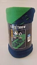 Notre Dame Fightin Irish fleece blanket  throw NEW