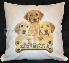 Golden Retriever Puppy Breed of Dog Cotton Cushion Cover - Perfect Gift