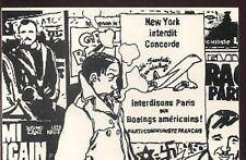 TARDI Jacques Cigarette carte postale cp postcard avion concorde propaganda