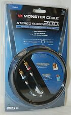 NEW Monster Cable RM181100 Stereo Audio 200i-1M Low Noise RCA 3' ft HDTV DVD CD