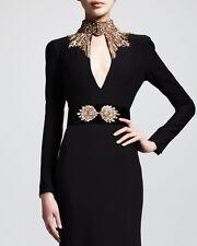 Alexander McQueen Dress Crystal-Embellished Wide Belt