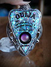 Faux Whit Opal Ouija Spirit Board Planchette Mood Necklace Goth/Alt/Occult/Witch