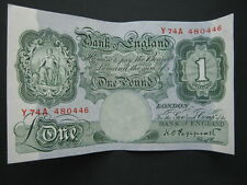Bank of England £1 note Peppiatt, Y74A. B260