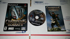 Champions of Norrath: Realms of EverQuest Complete PlayStation 2 Tested Rare