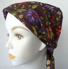Wildflower Chemo Cancer Hat Bad Hair Day Alopecia Scarf 100% Cotton Covering