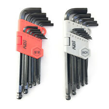 2 PCS 13PCS BALL END WRENCH ALLEN KEYS HEX SET METRIC + IMPERIAL ND-0703 ND-0704
