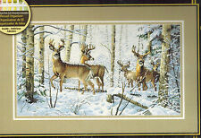 Dimensions Gold Collection Woodland Winter Counted Cross Stitch Kit Deer Buck