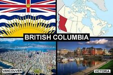 SOUVENIR FRIDGE MAGNET of PROVINCE OF BRITISH COLUMBIA CANADA