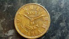 El tiempo es dinero. George Allers Joyero. Jersey City. 1899 Monedas. Token.