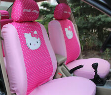 6pc. Hello Kitty Pink Universal Interior Car Seat Cover Set