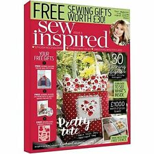 SEW INSPIRED MAGAZINE ISSUE 5 WITH 3 FREE BAG PATTERN & MORE 30 PROJECTS