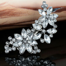 Lady Women Flower Crystal Rhinestone Hair Clip Headwear Hairpin Hair Accessories