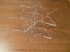 Cake pop acrylic star stand display 2 tier