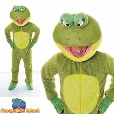 GREEN FROG KERMIT TOAD BIG HEAD MASCOT One Size Mens Fancy Dress Costume
