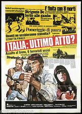 ITALIA ULTIMO ATTO? MANIFESTO CINEMA LUC MERENDA POLIZIESCO 1977 MOVIE POSTER 2F