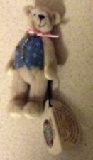 3 INCH TALL GANZ MINIATURE BEAR CHARLES WRIST TAG BUT NO TAGS ON BAG AND NO COA