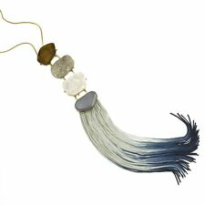 John Wind Jewelry Necklace Azure Ombre Fringe Ladder Blue Tassel  Anthropologie