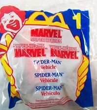 1996 McDonald's Happy Meal Super Heroes Marvel Spider-Man Vehicle Toy MIP C10!