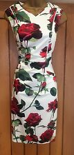 BNWT PHASE EIGHT DRESS UK 12  ASHA ROSE STRETCH COTTON PENCIL FLORAL WIGGLE £120