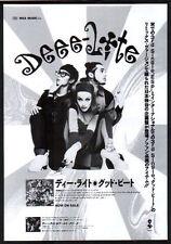 1991 Deee-Lite photo Good Beat JAPAN record promo ad / mini poster advert d09r