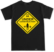 UNDER CONSTRUCTION WORKOUT GYM FIT FITNESS SQUAT LIFT BENCH TRAIN BEAST T SHIRT