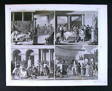 1849 Bilder Print Ancient Greece Wedding Dancers Areopagus Council Roman Funeral