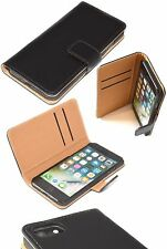 Orginal Apple iPhone 6 6S Case Genuine Real Leather Folio Book Case Wallet Black