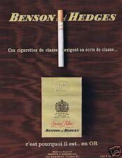 Publicité Advertising 066 1965 Benson & Hedges cigarettes anglaises