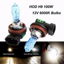 2x H9 6000K HOD Headlamp Bulbs 100W 12V Super White Xenon Lamp For Buick Volvo
