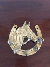 Great Vintage Prass Horse Key Hook