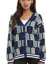BBC Doctor Who Tardis Print Cardigan Cosplay Size Medium Dr New With Tags!