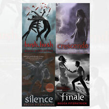 Becca Fitzpatrick 4 Books Collection Set New Finale, Silence,Crescendo Hush,Hush