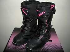 ONeal Rider Motocross Boots Pink Womens Size 7 ATV Dirt Bike Off Road Moto