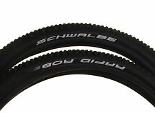 2 X (PAIR) Schwalbe Rapid Rob 29 x 2.25 MTB Mountain Bike Tyres - Black Kevlar