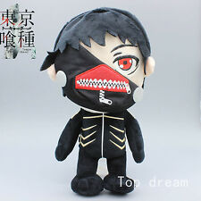 New Anime Tokyo Ghoul Black Kaneki Ken Plush Doll Soft Stuffed Toy 12'' Kid Gift