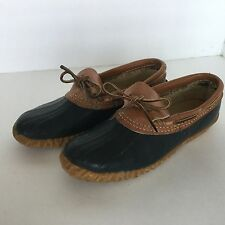 Vintage Sorel Chinook Duck Shoes Women's Size 7 Boots Blue Rubber Leather
