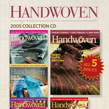 4 Issues on CD: HANDWOVEN MAGAZINE 2005 Weaving Fabric Linen Lace Table Runners